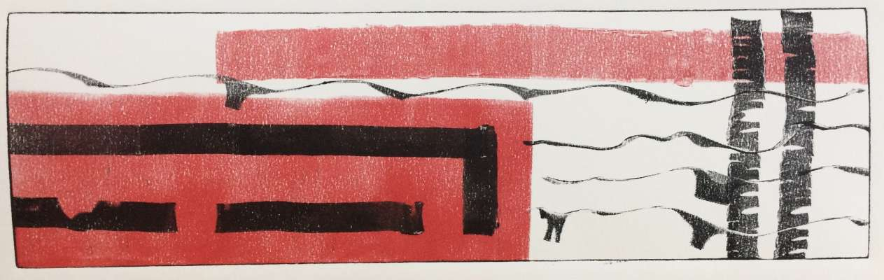 A Flag, of Sorts, ink, $$140.0000